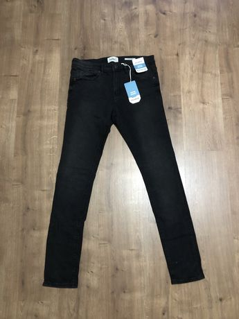 Jeans super skinny básicos pretos- Homem