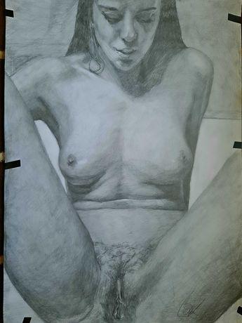Rysunek akt kobiecy