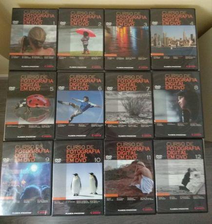 Curso de fotografia digital em DVD - 30 DVDs NOVOS