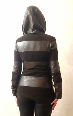 Продам стильную кожаную куртку(размер М)