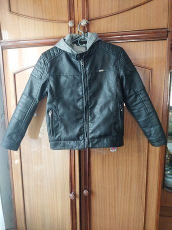 Куртка детская кожзам 140
