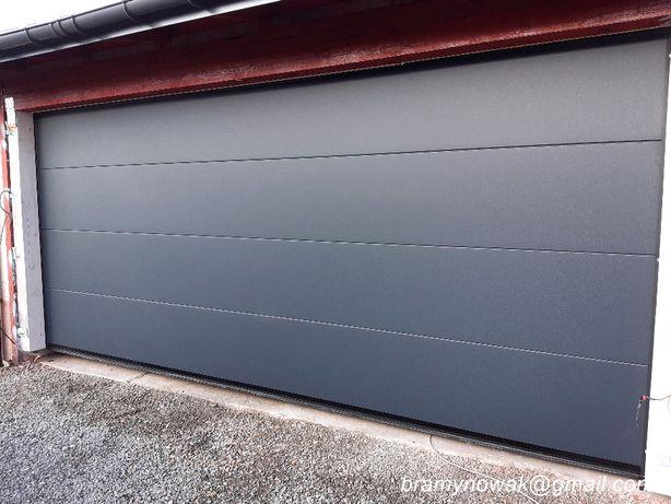 Brama garażowa 5000x2200 kolor ANTRACYT RAL 7016