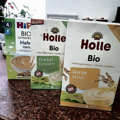 Kaszki bezmleczne bio Holle, Hipp, Bobovita  plus gratis
