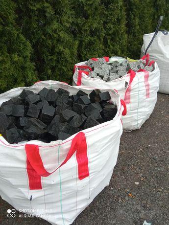 Kostka granitowa szara,czarna Szwed, czerwona, granit, kamień ogrodowy