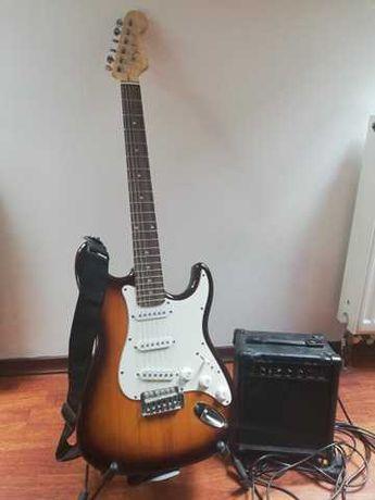 Gitara elektryczna VISION ST-5 + wzmacniacz GOLDEN TON GTA-08