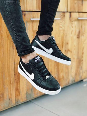Кроссовки черные с белым Найк Аир Форс красные Nike Air Force Red