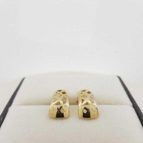 Złote kolczyki ażurowe