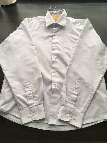Белая рубашка на мальчика 9-11 лет