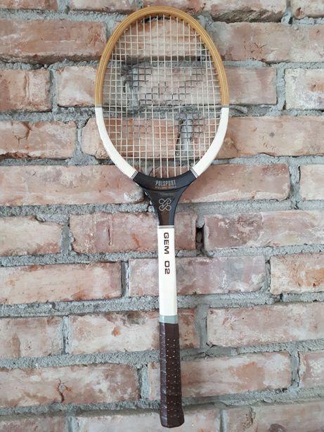 Rakieta tenisowa drewniana Polsport, zapytaj kolekcjonerski