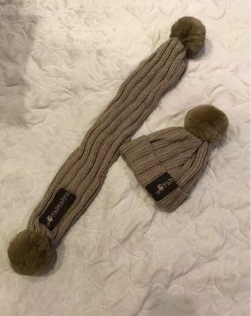 Зимний набор шапка и шарф