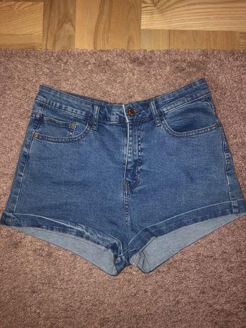 Szorty jeansowe z wysokim stanem pull&bear