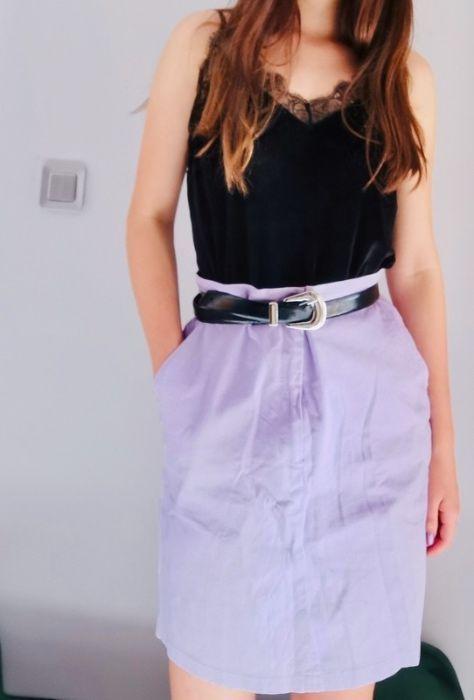 Fioletowa prążkowana spódnica Sosnowiec - image 1