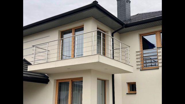 Balustrada Balkonowa Tarasy Ze Stali Nierdzewnej Gwarancja Wykonania!!