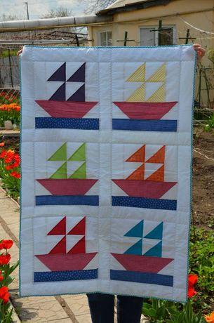 Детское одеяло пэчворк (Handmade)