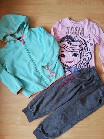Bluza bluzka spodnie roz 98-104