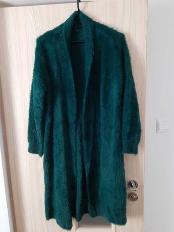 Sweter plaszczyk alpaka s-xl butelkowa zielen uniwersalny