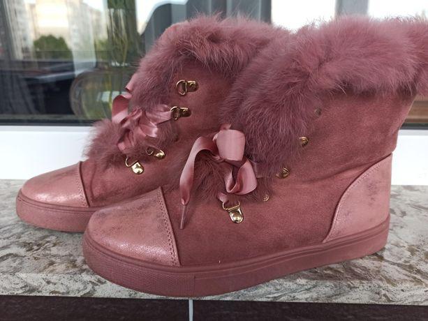 Женские ботинки еко-замш