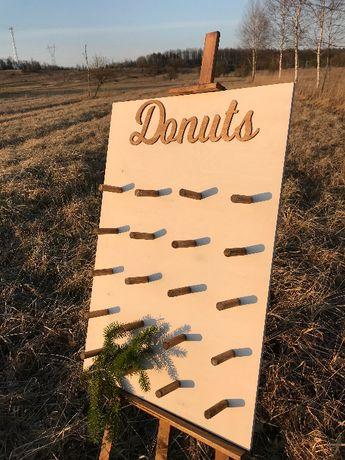 Tablica na donuty donuts wesele ślub - różne wzory NOWA
