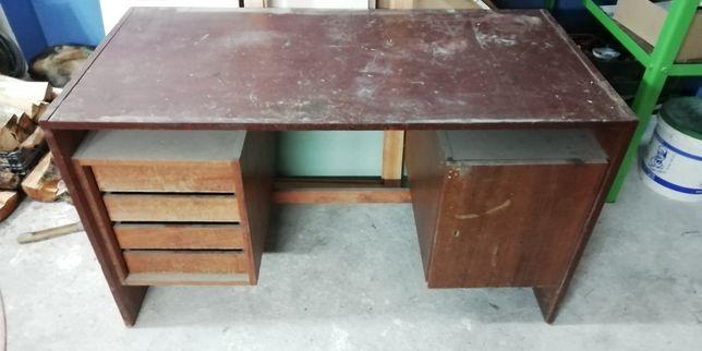 Biurko PRL, stół warsztatowy