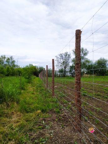 Ogrodzenia tymczasowe/ budowlane z siatki leśnej, panelowe