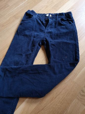 Zestaw spodnie H&M, koszula Okaido, 134-140