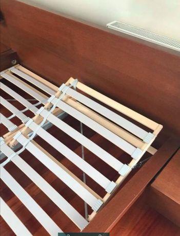 Łóżko Malm Ikea 180 x 200 cm z regulowanym stelażem materaca