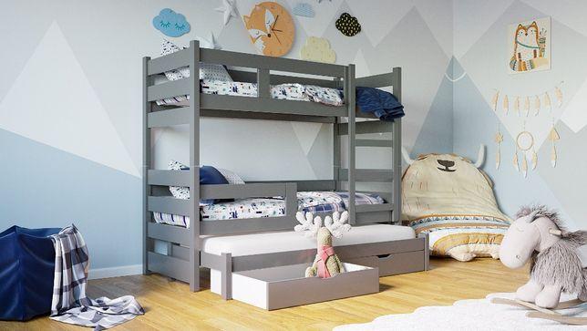 Nowoczesne piętrowe łozko dla 3 dzieci! Kolory do wyboru