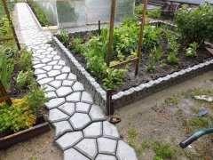 Форма садовая дорожка + бордюр классика