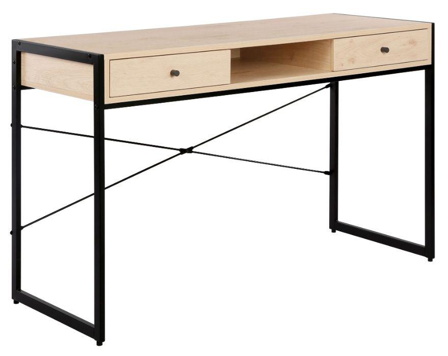 OLX-387 Biurko z szufladami i półką Baston 123 cm dąb sonoma/czarne Krapkowice - image 1