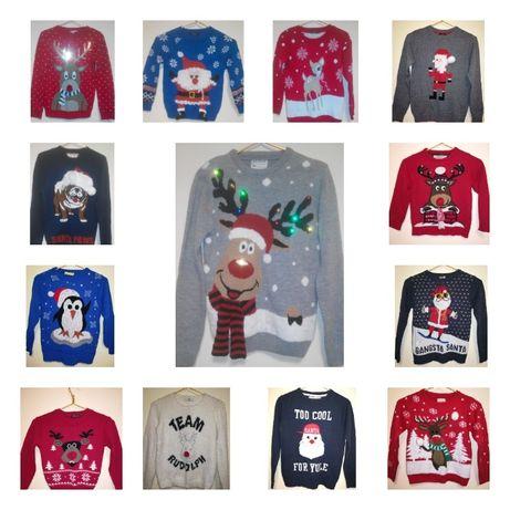 Классный новогодний свитер детский взрослый