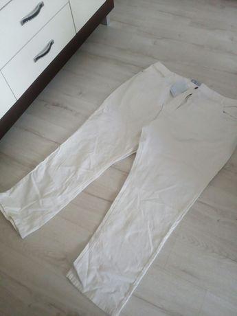Sprzedam duże białe spodnie damskie