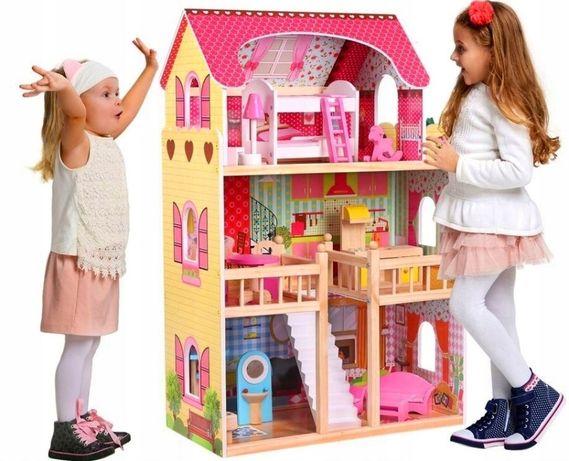 Кукольный домик.Домик для кукол+17шт мебели+ подарок!Домик для барби