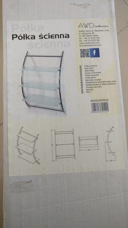 Półka szklana łazienkowa