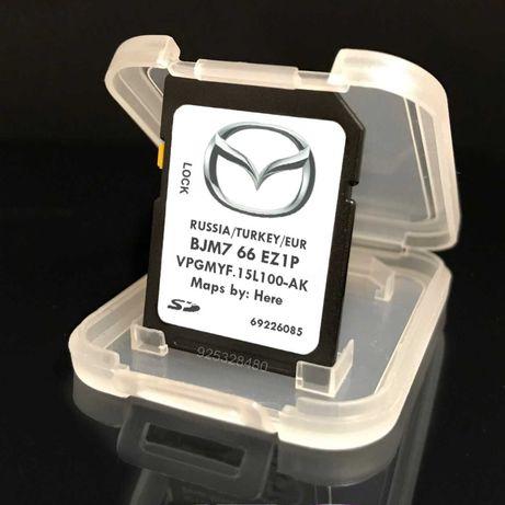 Mazda GPS cartao Europe mapa 2020
