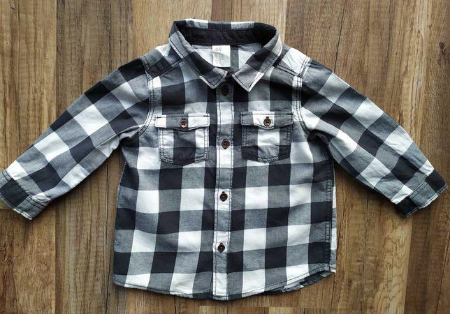 H&M - koszula w kratę dla chłopca rozm. 74