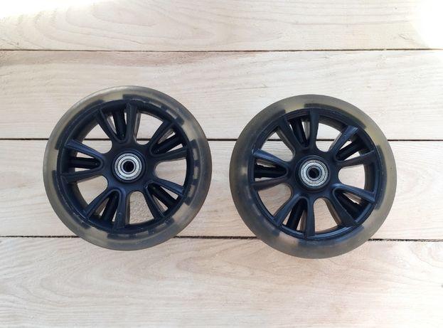 Колеса для самоката 135 мм (большие толстые) полиуретан светятся