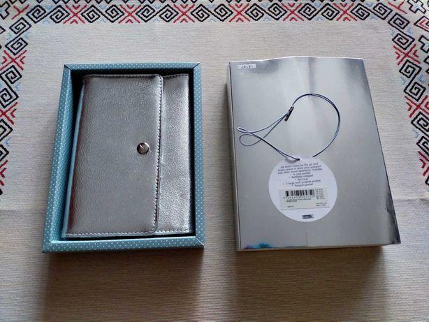 Органайзер (кошелек+блокнот), натуральная кожа, фирма Kikki.k, Швеция.