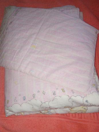 Детское гипоалергенное одеяло и подушка