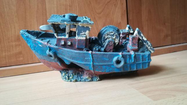 Statek ozdoba do akwarium wrak statku ceramiczny