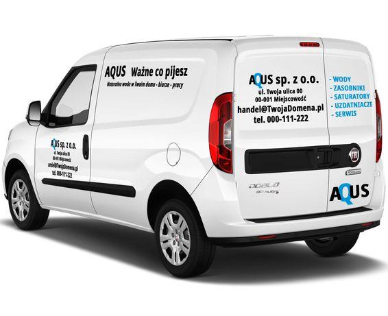 Reklama samochodowa - kompletna na pojazd AUTO 7 elementów