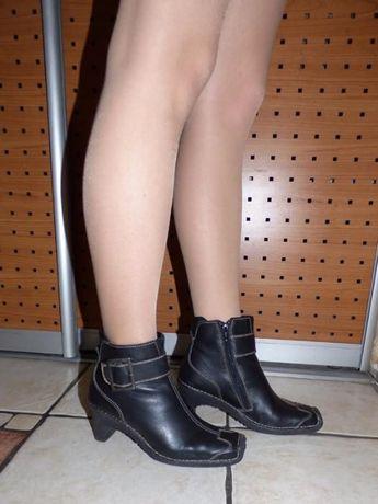 Черные кожаные ботинки Camel Active