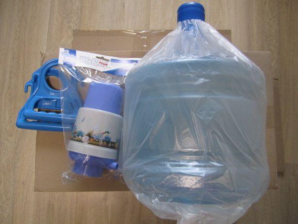 Комплект: бутыль для воды 11л или 19л + помпа механическая