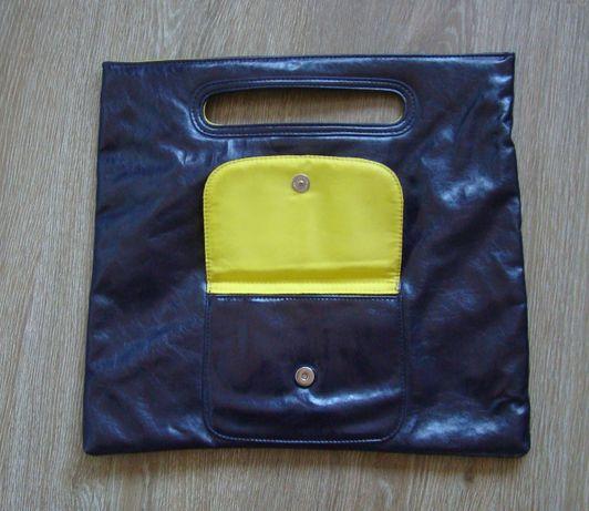 Torebka oryginalna fioletowo-żółta