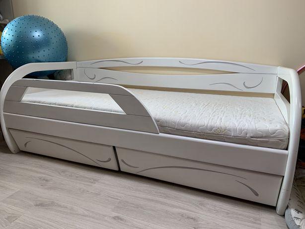 Продам ліжко дитяче , деревяная кровать детскую белую