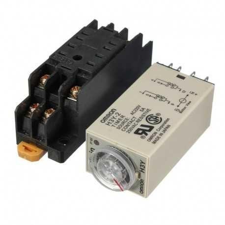 Relé Temporizador H3Y-2 220V (OMRON COMPATIVEL)