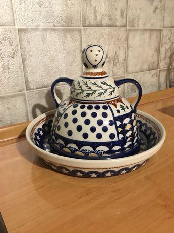 Piekny zestaw, ceramika Bolesławiec