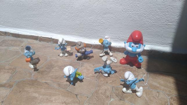 Figuras da coleção Smurfs