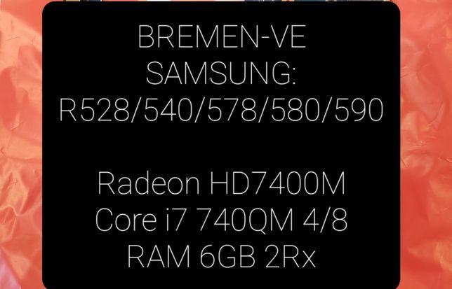 Материнская плата SAMSUNG на R528/R540/R578/R580 - i7[4/8)/8Gb/HD7400
