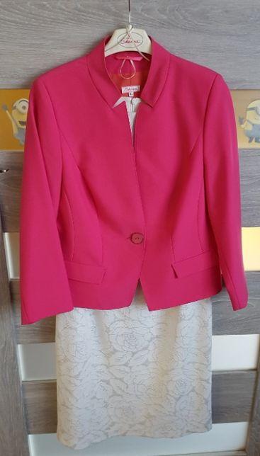 Sukienka + marynarka różowa damska L