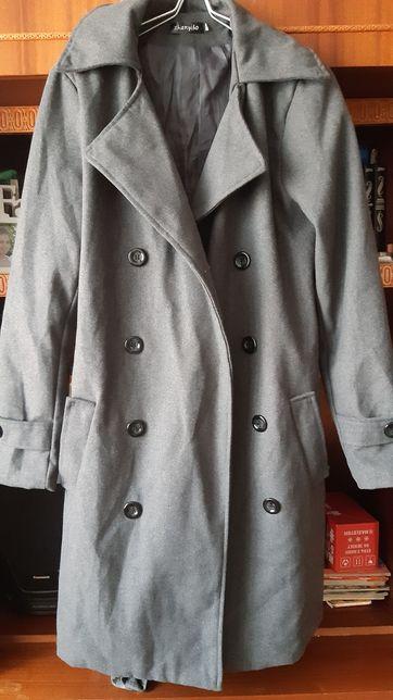 Пальто серое женское